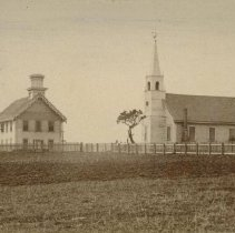 Image of First Church and Public School in Mendocino