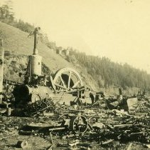 Image of Remains of Mendocino Mill on Big River