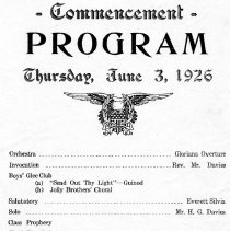 Image of Commencement Program 1926