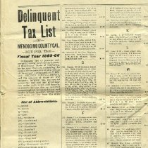 Image of Delinquent Tax List