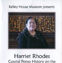 Image of Harriet Rhoades - Coastal Pomo History