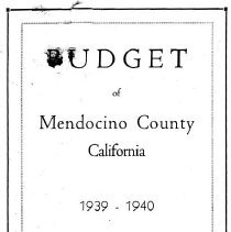 Image of County Budget 1939-40