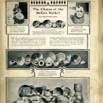 Image of Scrapbook of Native American Basketry
