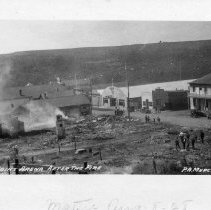 Image of Point Arena after the fire.