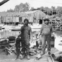Image of Fishermen at Noyo Dock