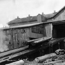 Image of Sawmill at the Mendocino Lumber Mill.