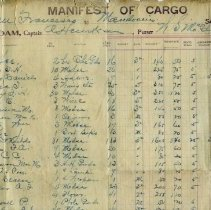 Image of 2012-003-001 - Manifest, ship