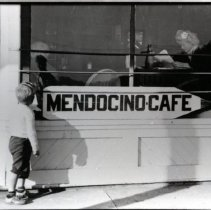 Image of Mendocino Cafe Sign