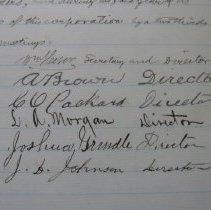 Image of Mendocino Electric Company Directors' Signatures