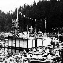 Image of 0016 - Deep Cove Regatta, gas barge 1935