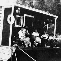 Image of 0050 - People on Houseboat Moored