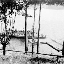 Image of 0298 - Scenic ferry at Quarries Lodge wharf 1938