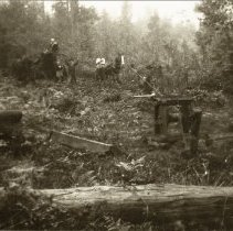 Image of Clearning Land, 1927 - 0256 - Clearning land, hand windlass, John Sr