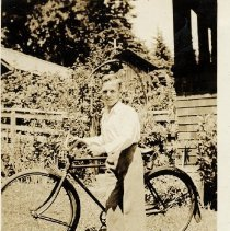 Image of 0165 - Alec Barclay with bicycle