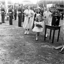 Image of May Queen with Attendants - 0352 - May Queen with Attendants