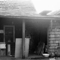 Image of Maplewood Mudflats, entrance to squatter's shack - Maplewood Mudflats, entrance to squatter's shack