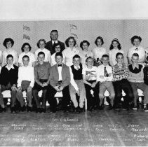 Image of 0390 - BVS Class photo with Mr Loucks 1953