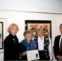 Image of 0974 - Judy Dennis Volunteer Award - Lee, Pat Morrice, Carol, Trevor Carola