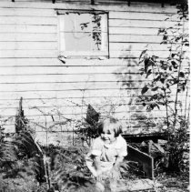 Image of 0984 - Kit Penny in garden 1928
