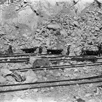 Image of Granite Quarries Ltd, men loading rock on flatbed