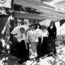 Image of Heritage Office outside - 0853 - Gwen Murray and Heritage members Sep 1996