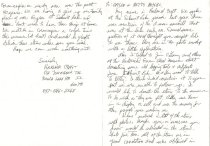 Image of Harland Craft letter