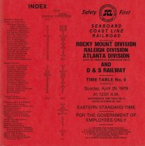 Image of Rocky Mount Time Table No. 9