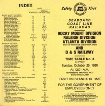 Image of Rocky Mount Divison Time Table No. 3