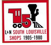 Image of L&N South Louisville Shops sticker