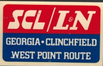 Image of SCL/L&N decal