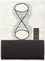 Image of Gary Pearson - untitled [hourglass shape with gridded small shape]
