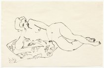 Image of B.C. Binning - not titled [reclining nude]