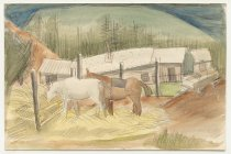 Image of B.C. Binning - not titled [cariboo horses]