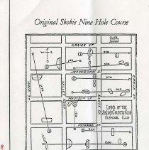 Image of A013800 - Golf Course Layout - PHOTO COPY