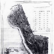 Image of OB005381 - Golf Course Layout - PHOTO COPY