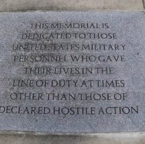 Image of Plaque in Monument Center