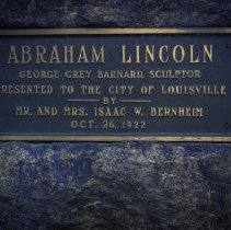 Image of Dedication Plaque