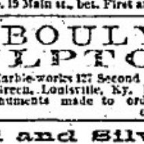 Image of Advertisement for Bouly's studio, <i>The Courier-Journal</i>, Nov. 23, 1876
