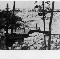 Image of Granite Quarry - NC Granite Quarry, Mount Airy, NC.  A very early picture.