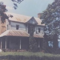 Image of Jesse Franklin House - Jesse Franklin house, Lowgap, North Carolina, front view.  House is no longer standing.