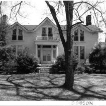 Image of Freeman House - Alexander Hamilton Freeman house, 321 S. Main St., Dobson.  According to information in SIMPLE TREASURES, this house was begun prior to the Civil War but not completed until the post-war years.  As of 1987 it was still owned by the Freeman family.  State Record 487.