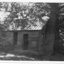 Image of Dobson Law Office - Law office of John Hamlin Dobson (1856-1922), built by him in the late 19th century.   Located  in the Rockford vicinity.  State Record 213.