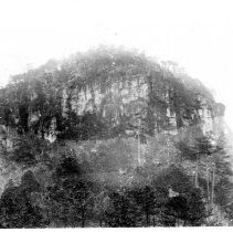 Image of Pilot Mountain Knob - Pilot Mountain Knob, close-up view.