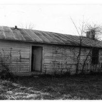 """Image of Reeves Kitchen/Dining Room - Reeves Kitchen/Dining Room, located on SR 2081 in the Siloam community, State Record 196.  Note on back of picture reads, """"Old office building and Reeves kitchen and dining room.""""  For more detailed information, refer to SIMPLE TREASURES, page 245."""