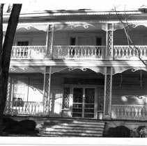 Image of Gwyn-Foard House - Porches on the Gwyn-Foard House, 115 Circle Court, Elkin.  For additional information, refer to SIMPLE TREASURES, page 93.  State Record 574.