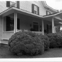 "Image of Cedar Point - Front porch of the Richard Gwyn House, ""Cedar Point,"" located at 350 W. Main St. in Elkin.  For more information, refer to SIMPLE TREASURES, page 99.  State Record 593."