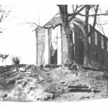 Image of Courthouse - Rockford - Old courthouse in Rockford which was gutted by fire in 1925.  This is a copy from the North Carolina Collection, UNC Library, Chapel Hill.