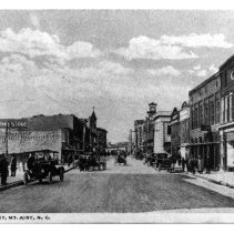 Image of Main Street, Mount Airy - Mount Airy, Main Street, looking North with  Franklin Street on left.  Early 1900s.