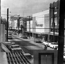 Image of Main Street, Mount Airy - Main Street, Mount Airy, looking north, probably during the 1960s.
