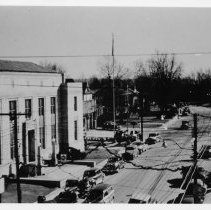 Image of Main Street, Mount Airy - Mount Airy, Main Street looking south.  New Post Office in foreground.